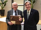 Royce Moser MPH '65 Recognized for Service to Alumni Association